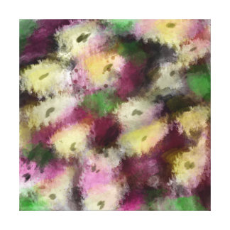Flores digitales originales de la pintura del arte lienzo envuelto para galerias