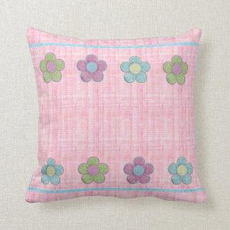Flores dimensionales (rosa) cojines