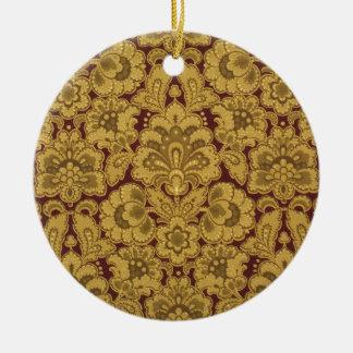 Flores diseñadas persas, 1880-1890 adorno redondo de cerámica