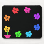 Flores divertidas tapetes de ratón