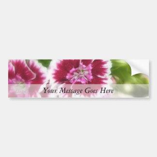 Flores dulces rosadas brillantes de Guillermo Pegatina Para Auto