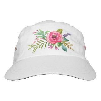 Flores dulces y románticas de la acuarela gorra de alto rendimiento
