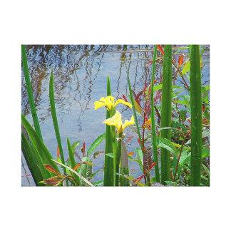 Flores e impresión amarillas de la lona de las ref lona envuelta para galerias