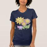 Flores e insectos de Sun Camisetas