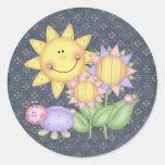 Flores e insectos de Sun Pegatina