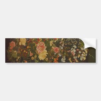 Flores e insectos japoneses del vintage pegatina de parachoque