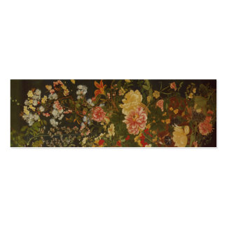 Flores e insectos japoneses del vintage tarjetas de visita mini