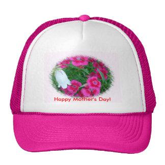 ¡Flores, el día de madre feliz! Gorras