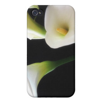 Flores elegantes 12 de la cala iPhone 4/4S fundas