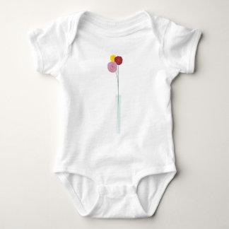 Flores elegantes body para bebé