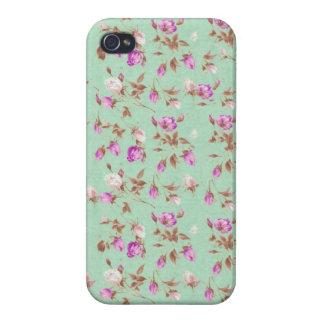 Flores elegantes color de rosa lamentables de los  iPhone 4 protector