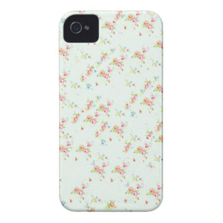 Flores elegantes color de rosa lamentables florale Case-Mate iPhone 4 protectores