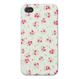 Flores elegantes color de rosa lamentables florale iPhone 4 protector