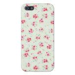 Flores elegantes color de rosa lamentables florale iPhone 5 carcasa
