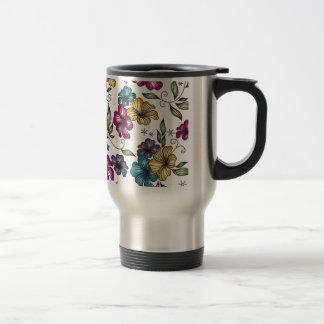 Flores elegantes del Victorian del vintage Tazas