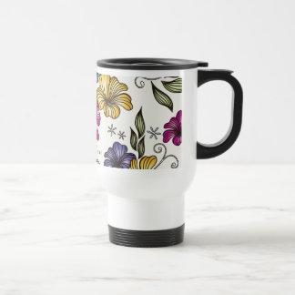 Flores elegantes del Victorian del vintage Tazas De Café