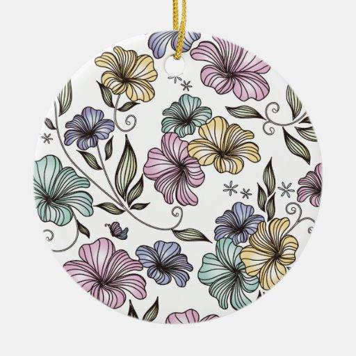 Flores elegantes del vintage del Victorian Adornos