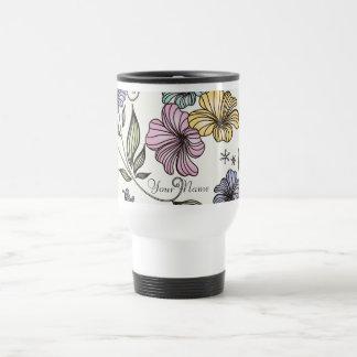 Flores elegantes del vintage del Victorian Tazas De Café