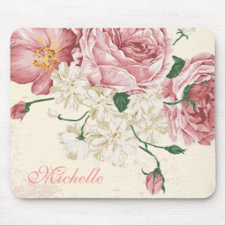 Flores elegantes del vintage tapetes de raton