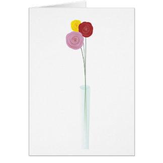 Flores elegantes tarjeta de felicitación