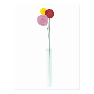 Flores elegantes tarjetas postales