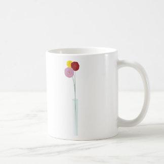 Flores elegantes taza clásica