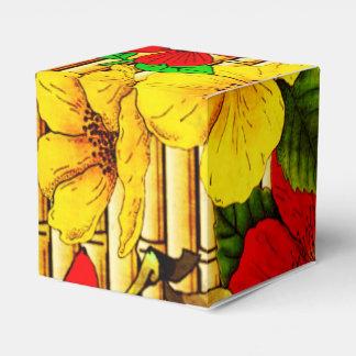 Flores en bambú caja para regalo de boda