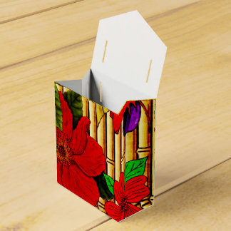 Flores en bambú caja para regalos de fiestas
