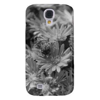 Flores en blanco y negro funda para galaxy s4