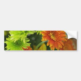 Flores en casa pegatina de parachoque