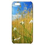 Flores en caso del iPhone 5 del prado