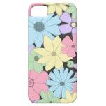 Flores en colores pastel bonitas iPhone 5 Case-Mate carcasa