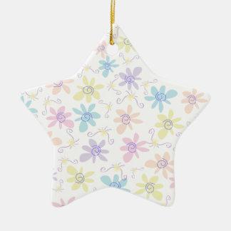 Flores en colores pastel caprichosas ornamentos para reyes magos
