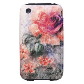 Flores en colores pastel dulces tough iPhone 3 coberturas