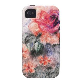 Flores en colores pastel dulces iPhone 4/4S funda