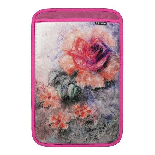Flores en colores pastel dulces funda para macbook air