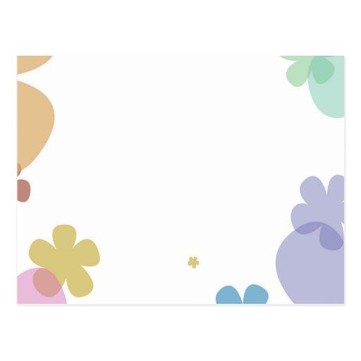 Flores en colores pastel mejor 19 de diciembre de tarjeta postal