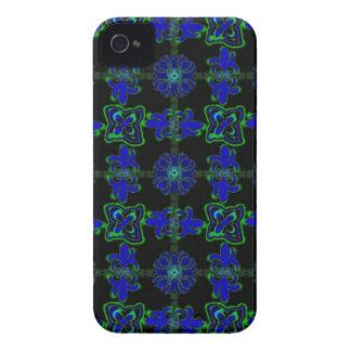 Flores en Deco de especie Retro Style verde azul n