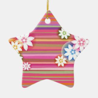 Flores en diseño gráfico floral de la raya colorid ornato