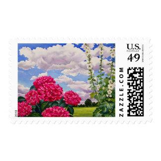 Flores en el borde de un prado 2008 sello postal