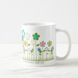 Flores en el campo tazas de café