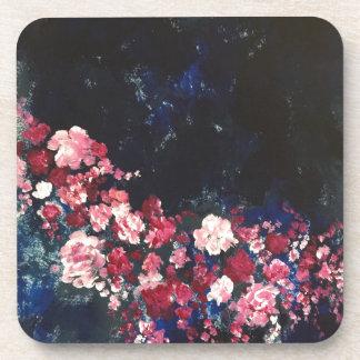 Flores en el cielo nocturno posavasos