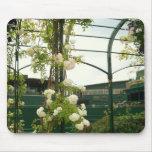 Flores en el cojín de ratón de Wimbledon Alfombrilla De Raton
