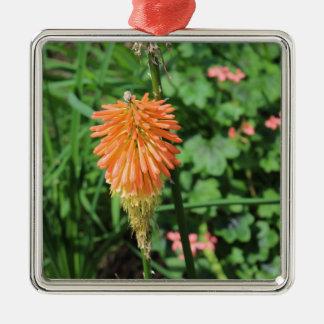 Flores en el jardín del cielo, Londres Adorno Navideño Cuadrado De Metal