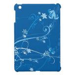Flores en el mini caso del iPad azul iPad Mini Carcasa