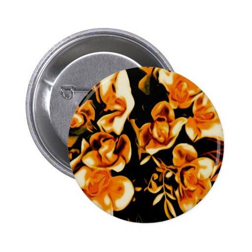 flores en el oscuro, de oro pin