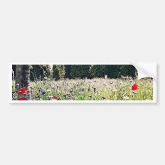 Flores en el parque pegatina para auto