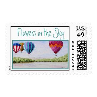Flores en el sello del cielo
