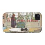 Flores en el Windowsill de Carl Larsson iPhone 4 Carcasas