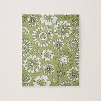 Flores en fondo verde puzzles con fotos